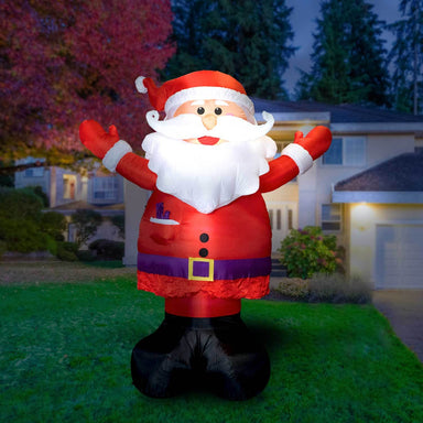 Inflatable Santa Christmas Decoration with Built-In Fan and LED Lights
