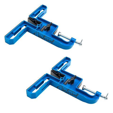 pair of blue wax clamp