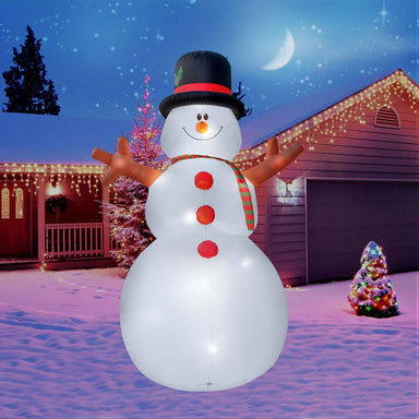 Inflatable Christmas 15 Ft. Giant Snowman Decoration with Built-In Fan and LED Lights