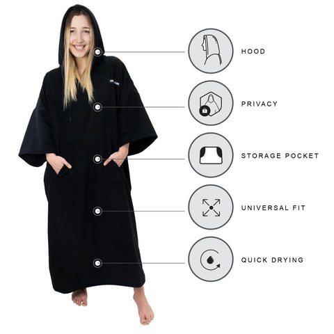 Driftsun Surf Poncho, Privacy Changing Robe