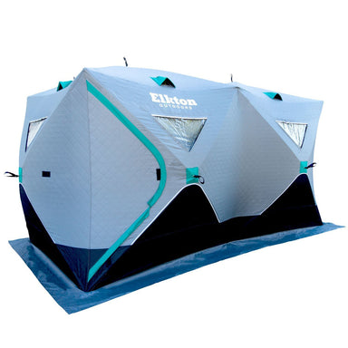 6-8 Person Insulated Double Ice Fishing Tent With Ventilation Windows & Carry Pack