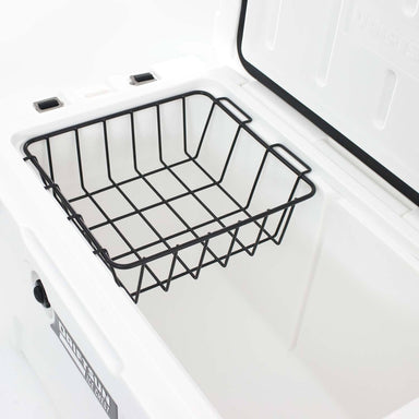 Top View of Ice Chest Dry Goods Basket