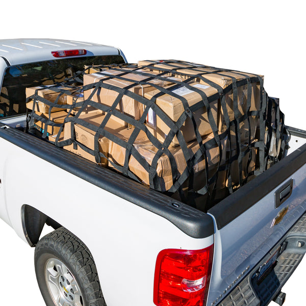 Rakapak Truck Bed Cargo Net With Elastic Net Included