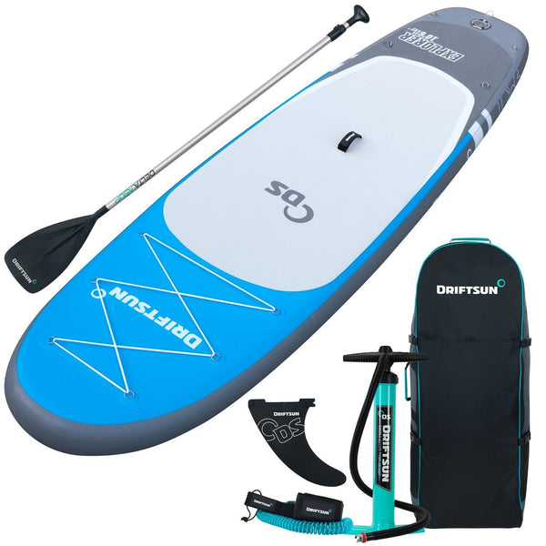 "Driftsun Explorer 10' 6"" Inflatable Stand Up Paddleboard Kit for Beginners All-Around Use"