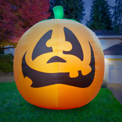 Inflatable Halloween Pumpkin Decoration with Built-In Fan and LED Lights
