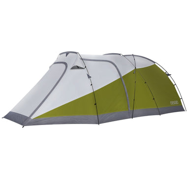 Moto Tent slightly angled to the left with the front closed
