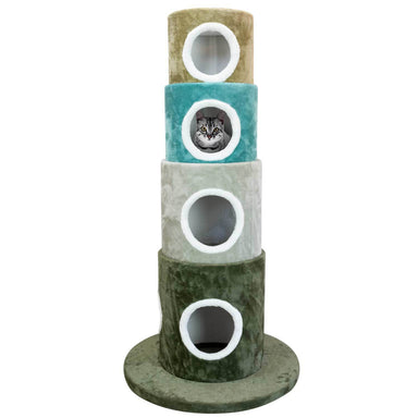 Multi Color Stackable Cat Tree