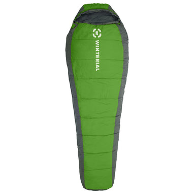 green mummy sleeping bag