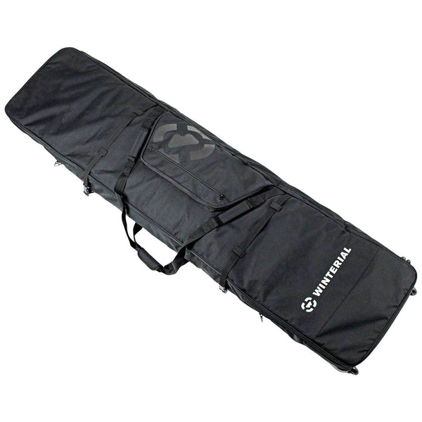 Winterial Double Ski Storage Bag I Wheeled Ski Travel Bag With 5 Storage Compartments I Reinforced Double Padding