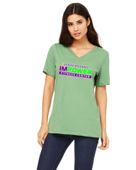 Ladies Soft V-Neck T - I'MPower