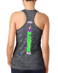 Ladies Burnout Racerback Tank I'MPower