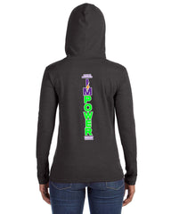 Ladies Lightweight Hoodie T-Shirt - I'MPower