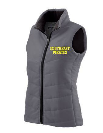 Ladies Quilted Vest with Embroidery