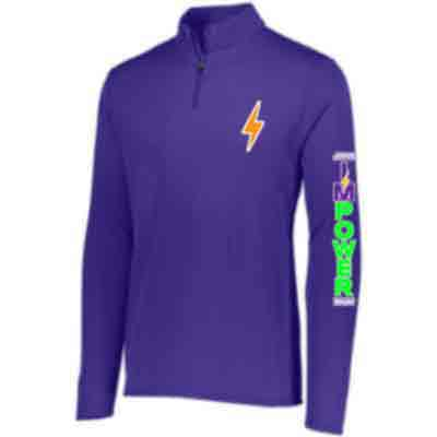 Ladies Lightweight 1/4 Zip Pullover - I'M POWER