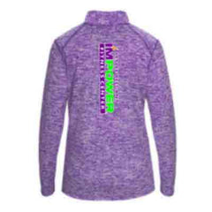 Ladies 1/4 zip Pullover with BACK LOGO - I'M POWER