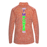 Ladies Marbled Quarter Zip I'MPower