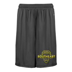 Badger Black Drifit Pocketed Short