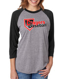 Dingers Baseball 3/4 Sleeve Raglan