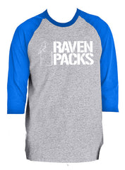Raven Packs Baseball Style 3/4 Sleeve