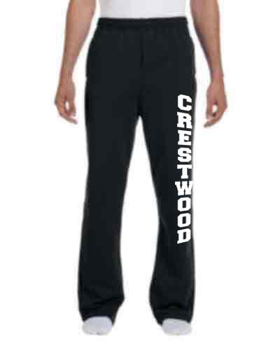 Open Hem Sweatpants for Adult or Youth - CHS/MS