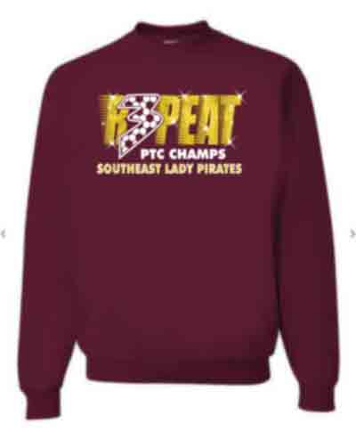 GLITTER Crewneck Sweatshirt for Youth and Adults - SE Ladies Soccer