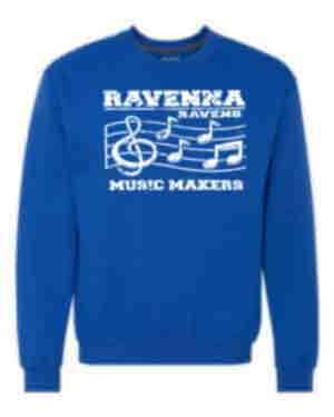 Crewneck Sweatshirt for Youth and Adults-Rav Music