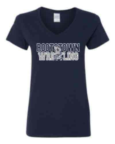 Ladies V-neck T-shirt Logo A - YOUTH