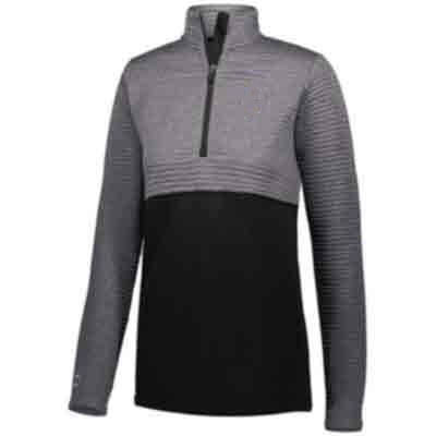 Ladies Half-Zip Pullover with Embroidery