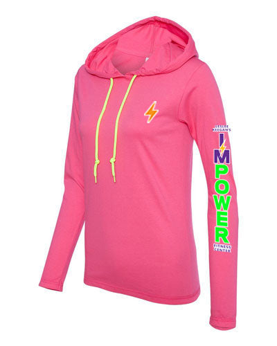 Ladies Lightweight Hoodie - I'M POWER