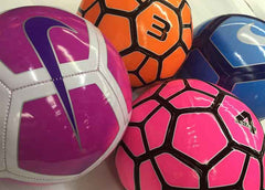 Soccer balls by Nike and Vizari