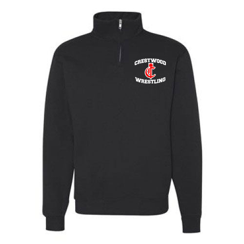 Adult or Youth 1/4 zip pull-over Logo C - YTH