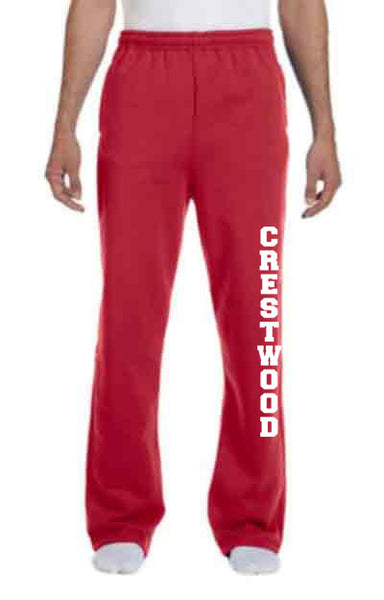 Open Hem Sweatpants for Adult or Youth - YTH