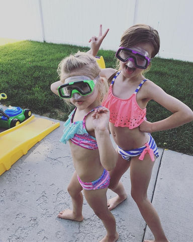 Girls ready for a swim