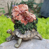 Turtle Decorative Item with a Vanadinite Crystal