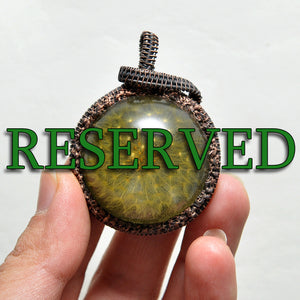RESERVED ITEM - Payment Plan, Last Payment Part for Copper Wire Wrapped Dandelion Resin Pendant