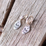 Skull Earrings, Skull Stud Earrings, Sterling Silver Earrings, Lazer Curved Sterling Silver Skull Earrings