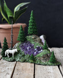 RESERVED - Custom Order, Decorative Unicorn, Amethyst Decorative Crystal, Home Decoration