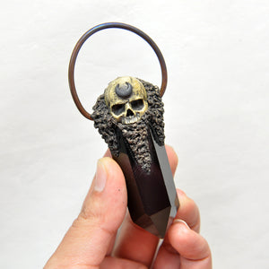 Hand Sculpted Realistic Skull & Moon