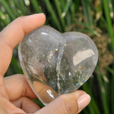 Heart Shape Rainbow Flashy Quartz Crystal
