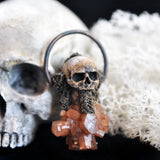 Hand Sculpted Realistic Skull Pendant
