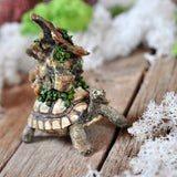 Turtle Decorative Item with a Druzy Chrysoprase Crystal Green-Orange