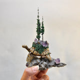 Tortoise Decorative Item, Trees, Amethyst Crystals