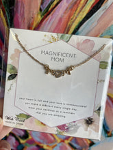 Magnificent Mom Gold Necklace on Card