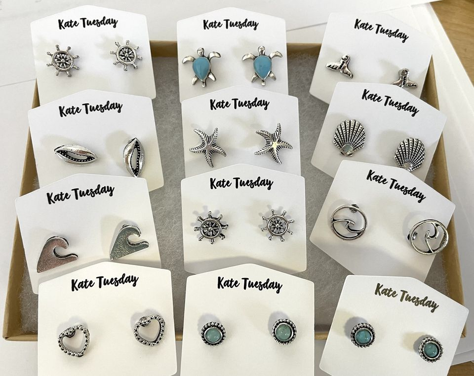Silver Simple Summer Studs Box