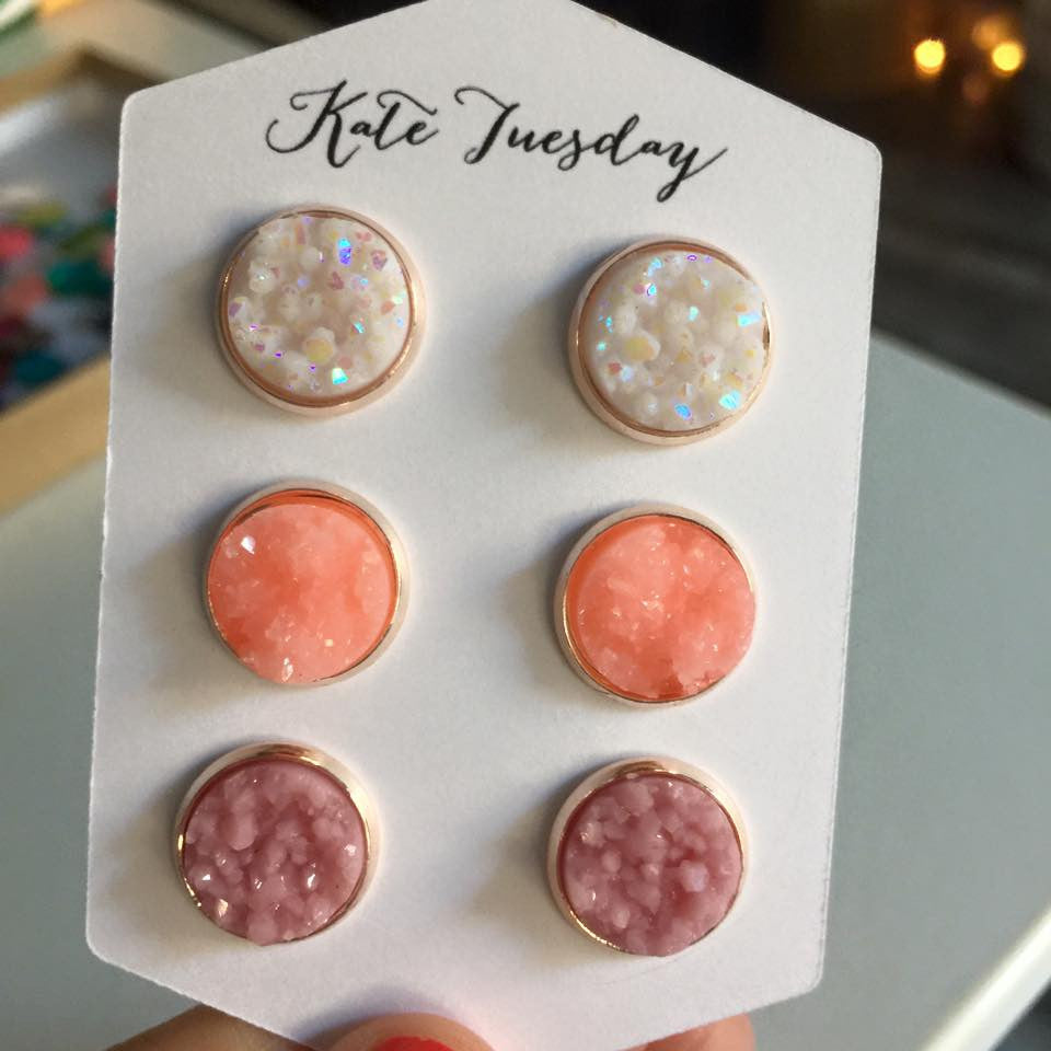 Cherry Hill Druzy Earrings Set