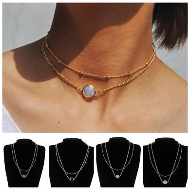 Gorgeous Double Gem Chokers