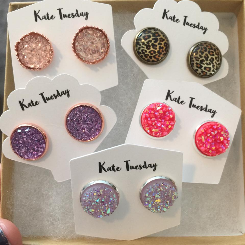 Pretty in Pink Druzy Earring Box (BOX #6)