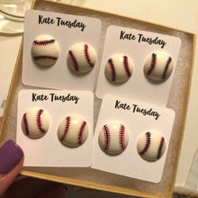 Baseball Stud Earrings- 2 sizes