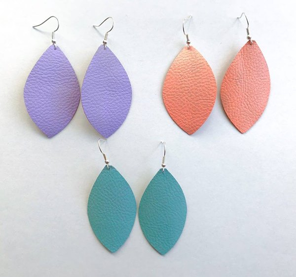 Spring Thin Leather Earrings