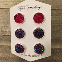 Rosa Set of 12mm Druzy Earrings